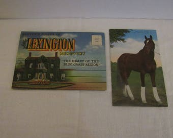 Kentucky Souvenir Folder & Whirlaway Post Card