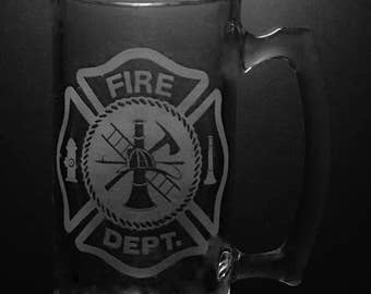 Fire Department Lieutenant 25 Ounce Beer Mug