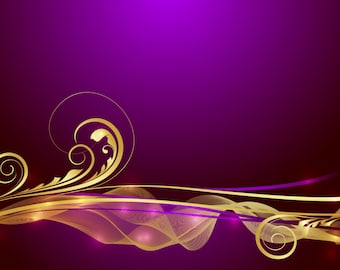 Purple And Gold Digital Immediate Download ClipArt Art Clip Background Gift