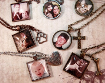 Picture Necklace Mother's Day Photo Necklace Grandmother Necklace