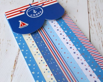 Origami strips/ DIY Wedding Lucky Stars/ Paper strips/Nautical origami/Scrapbooking paper