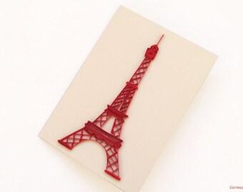 Eiffel Tower Card, Valentine card, Paris Card, Blank Card, Valentine's day Card, French Card