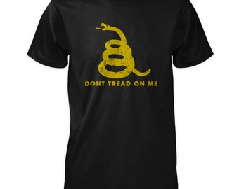 Dont Tread On Me Shirt - Gadsden Rattlesnake Silhouette