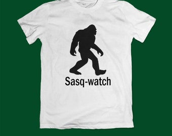 Bigfoot T shirt - bigfoot top tee shirt - monster shirt Sasquatch tshirt- yeti shirt - bigfoot shirt - Sasquatch gift for him gift for her