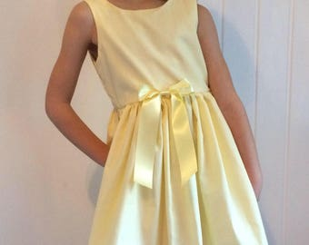 Girls easter outfit, easter dress, girls occasion dress, birthday outfit, girls yellow dress, yellow toddler dress, girls baby easter dress
