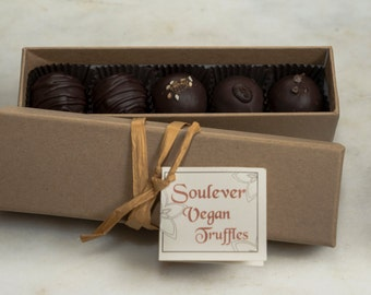 Box of 5 Vegan Truffles