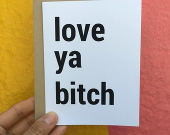 I love you Card - Love Card - Weddings - Mothers Day Card - Broad City Card - Thank You Card - Just Because - Love Cards - Birthday Card -