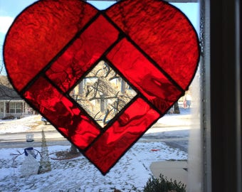 Stained Glass, Suncatcher, hearts