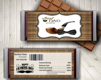 Fathers Day, Step Dad Fathers Day, Candy Bar Wrapper, Dad Birthday, Fathers Day Boy, Best Dad Card, Awesome Dad, New Daddy Gift, Dad and Son
