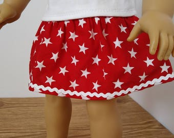 One Left!** Patriotic Star Simply A Skirt For 18 Inch Dolls