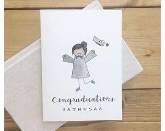 Graduation Card // graduation gift, custom grad gift, grad card, congraduation, pun, punny, punny card, custom gift, high school card, grads