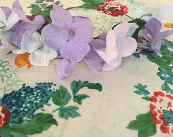 Purple Hydrangea Flower Crown