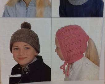 Children's Hats Knitting Pattern PDF (C1)