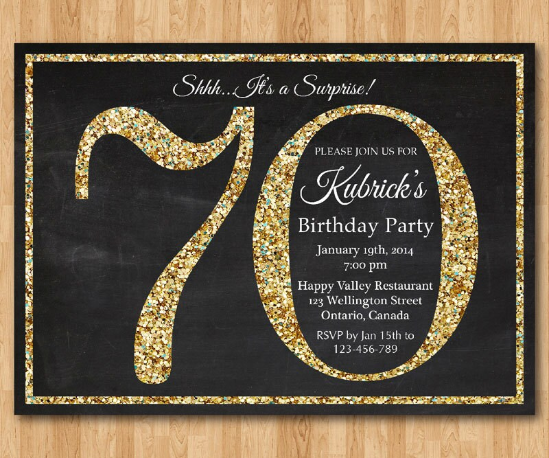 70th Party Invitations Gallery - invitation templates free download