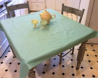 Vintage Wilendure Tablecloth Festival Jadeite Green MWT