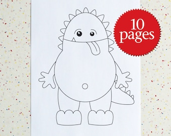 Monster Colour Pages - Monsters - Coloring Book - Creatures - Supernatural - Instant download - printable pdf - Children Activity