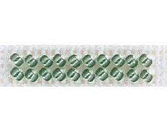 15/0 Seed Beads - Leaf Green Color - Rocaille #15 - 1.60 Grams - Plastic Reclosable Container - by Mill Hill