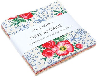 Merry Go Round Charm Pack by Sandy Klop for Moda Fabrics - 5 inch squares