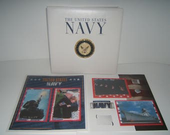 Military Scrapbook Album - Navy Scrapbook Album - Fathers Day Gift - Military Graduation - Premade Navy Scrapbook Album - Military Gifts