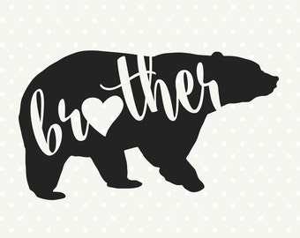Bear Family SVG file, Brother Bear svg file, Bear dxf file, Commercial use svg, SVG cutting file, DXF download