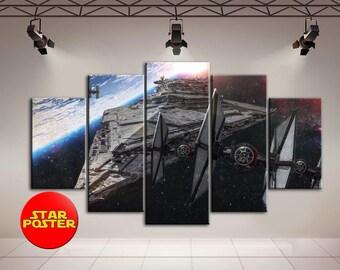 Star wars, Star wars canvas, Star destroyer, X-wing, X-wing canvas, Star destroyer canvas, Spaceship print, SW Spaceship canvas, X-wing art