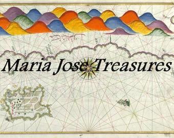 Vintage Maps by Piri Reis - Digital Download