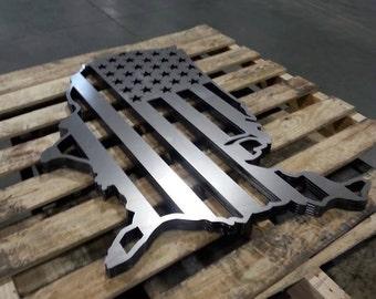FREE SHIPPING!!! USA Flag Metal Wall Decor