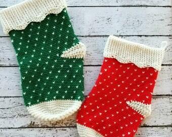 Crochet Stocking PATTERN - Christmas Stocking Crochet Pattern - Christmas Crochet Pattern - Stocking Crochet Pattern