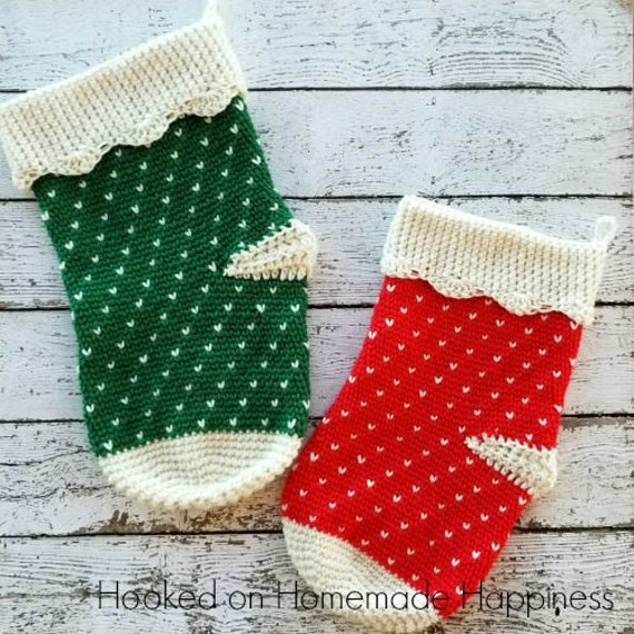Crochet Stocking Pattern Christmas Stocking Crochet Pattern