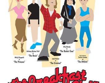 The Breakfast Club (1985) 11 x 17 movie poster John Hughes Molly Ringwald Judd Nelson Emilio Estevez Anthony Michael Hall Ally Sheedy