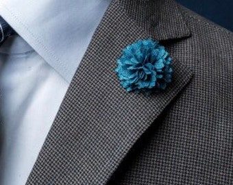 Turquoise Lapel Pin flower