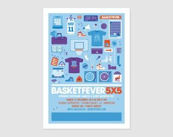 Print - Poster Basketfever 5x5