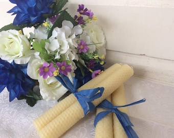Rolled Beeswax Candles