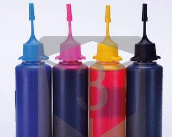 4 x 50ML Bottles Top Premium Korean Made Sublimation for Epson Ricoh Sawgrass Refillable Cartridges