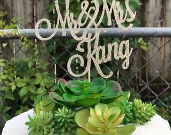 Custom Mr & Mrs Cake Topper, Wedding Cake Topper, Custom Cake Topper for Wedding, Custom Mr and Mrs Cake Topper