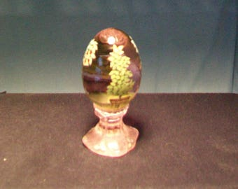 Fenton Hand Painted Pink Egg #689/3000