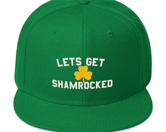 St Patricks Day Green Irish Baseball Hat With Gold Shamrock