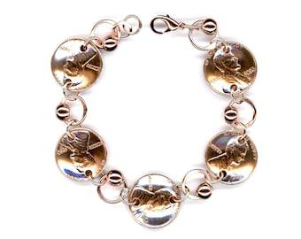 1966 Penny Beaded Bracelet 52nd Birthday Gift Jewelry 1966 52nd Anniversary Gift Women