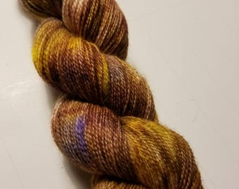"Hand Dyed Lace Weight Yarn ""Undead Coffee"""