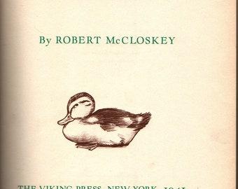 Make Way For Ducklings + Third Printing + Robert McCloskey + Robert McCloskey + 1942 + Vintage Kids Book