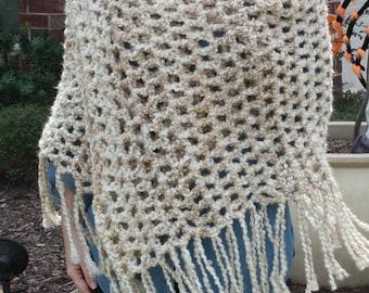 Crochet Wrap Shawl Hand Crocheted Ladies Women