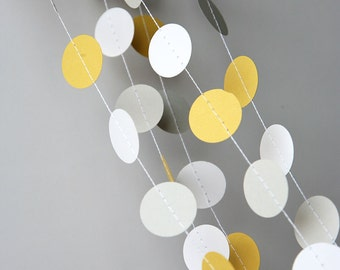 Yellow gray wedding garland, Wedding decorations, Yellow gray wedding garland, Wedding garland, Bridal shower decor, KC-1002