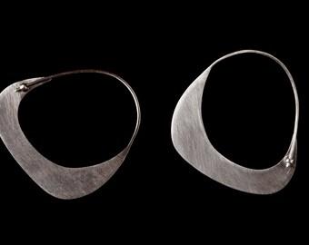 Valentine Earrings, Valentine Day Jewelry, Silver Jewelry, Geometric Hoop Earrings, Minimalist Jewelry, Silver Hoops,Silver Bridesmaid Favor