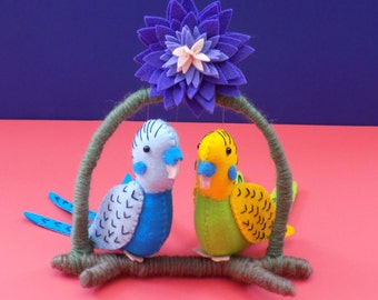 Budgie Sewing Pattern. Instant Download PDF, Home Decoration