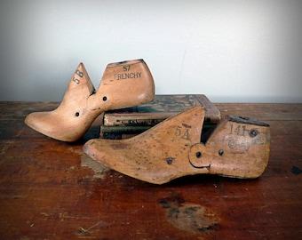 Jahrgang primitiven Holz Schuhleisten, Fabrik-Formen