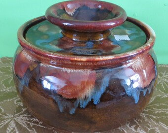 Amazing Dryden Pottery Potter's Wheel Large Lidded Jar - Free Shipping