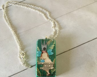 Encouragement Fairy  Dominoe Pendant