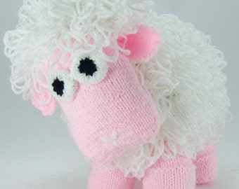 Curly the Sheep Knitting Pattern, Sheep Knit Pattern, Lamb Knitting Pattern, Home Decor Gift