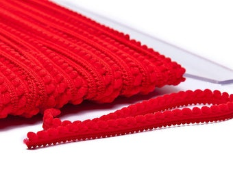 Mini braid tassels - Red