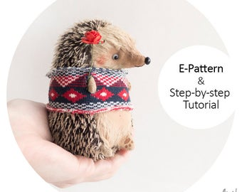 Mini Hedgehog 11cm - Step-by-step Tutorial with e-Pattern PDF
